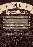 Kaffee Spezialitäten Poster | Werbebanner für dein Cafe