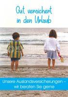 Gut versichert in den Urlaub Plakat | Werbung für Auslandsversicherung