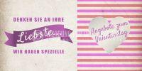 2:1 | Angebot zum Valentinstag Plakat | Werbetafel für Valentinstag | 2 zu 1 Format