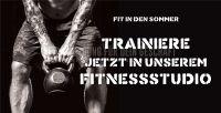 2:1 | Fit in den Sommer Poster | Werbebanner für Fitnessstudios | 2 zu 1 Format