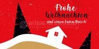 2:1   Frohe Weihnachten und einen Guten Rutsch Poster   für Plakatständer   2 zu 1 Format
