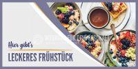 2:1 | Leckeres Frühstück Plakat | Werbeschild für dein Geschäft | 2 zu 1 Format