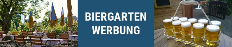 Banner für Biergarten Werbung