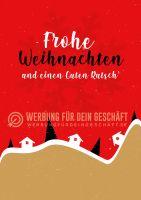 Frohe Weihnachten und einen Guten Rutsch Poster | für Plakatständer