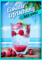 Eiskalte Erfrischung Poster | Werbeplakat Erfrischung