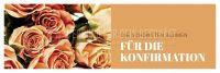 3:1   Blumen für die Konfirmation Poster   für Plakatständer   3 zu 1 Format