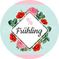 Rund | % Frühling Plakat | Werbeplakat für Geschäfte | Rundformat