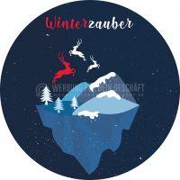 Rund | Winterzauber Werbebanner | Werbung Plakat erstellen | Rundformat