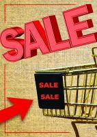 Sale Sale Sale Poster | Plakat für Werbeaufsteller