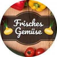 Rund | Frisches Gemüse Plakat | Werbeplakat Gemüse | Rundformat