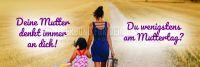 3:1 | Muttertag Poster | Werbeschild für Muttertag | 3 zu 1 Format