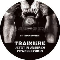 Rund | Fit in den Sommer Poster | Werbebanner für Fitnessstudios | Rundformat