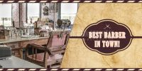 2:1 | Best Barber Plakat | Werbeplakt drucken lassen | 2 zu 1 Format