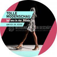 Rund | Tolle Modenschau Poster | Werbebanner für Geschäfte | Rundformat