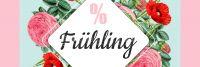3:1 | % Frühling Plakat | Werbeplakat für Geschäfte | 3 zu 1 Format