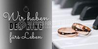 2:1 | Wir haben den Ring Plakat | Werbeschild für Juwelier | 2 zu 1 Format