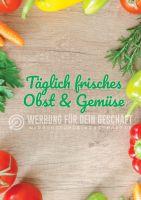 Täglich frisches Obst & Gemüse Plakat | Obst & Gemüse Plakat