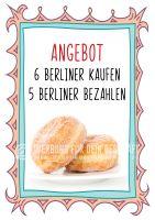Berliner Poster | Werbe-poster für Krapfen