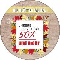 Rund | Die Blätter fallen Poster | Werbetafel für Geschäfte | Rundformat