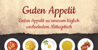 2:1   Guten Appetit Poster   Werbeposter für Mittagstisch   2 zu 1 Format