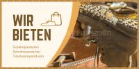 2:1 | Wir bieten Schuhreparaturen Plakat | Poster kaufen | 2 zu 1 Format
