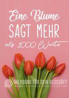 Blumen Plakat | Werbe-Plakat für Blumenladen