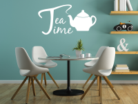 Tea Time Wandtattoo