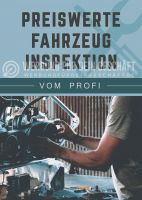 Preiswerte Fahrzeug Inspektion Poster | Plakat auch in DIN A 0