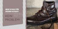 2:1 | Neue Sohle für deinen Schuh? Werbeposter | Poster kaufen | 2 zu 1 Format
