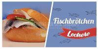2:1 | Leckere Fischbrötchen Plakat | Werbeplakat Fischbrötchen | 2 zu 1 Format