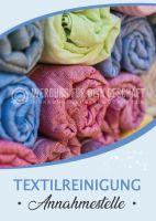 Textilreinigung Annahmestelle Poster   Werbeplakat drucken lassen