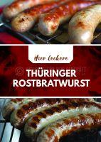 Leckere Thüringer Rostbratwurst Werbeaufkleber | Plakat auch in DIN A0