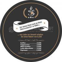 Rund   Mehrwegbecher Plakat   Werbeplakat für dein Cafe   Rundformat