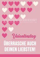 Valentinstag Plakat | Werbeschild für Valentinstag