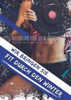 Fit durch den Winter Plakat | Werbebanner für Fitnessstudios
