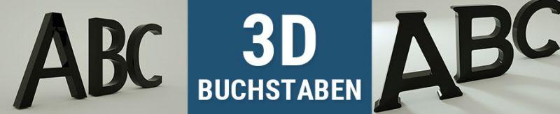 3D-Buchstaben aus Acrylglas oder Dibond oder Hartschaum