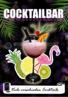 Cocktailbar Plakat | Werbeschild für Bars und Clubs