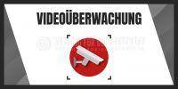 2:1 | Videoüberwachung Aufkleber | Plakat für Werbeaufsteller | 2 zu 1 Format