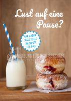 Lust auf eine Pause Poster | Werbe- Poster für Bäckerei