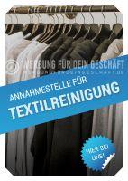 Annahmestelle für Textilreinigung Werbetafel | Poster kaufen