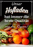 Unser Hofladen Plakat | Werbetafel für Hofläden