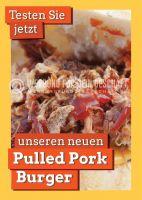 Pulled Pork Burger Werbebanner | Plakat auch in DIN A 0