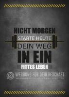 Starte heute Plakat | Werbeplakat für Fitnessstudios