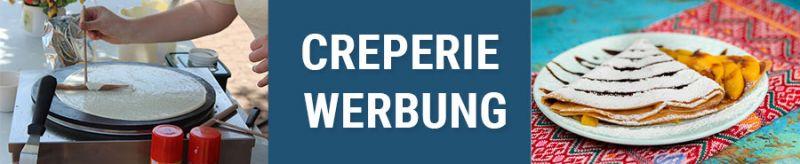Banner für Creperie Werbung