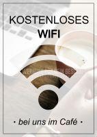 Kostenloses WIFI Plakat | Werbebanner für Cafes