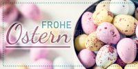 2:1 | Frohe Ostern Poster | Werbeplakat drucken lassen | 2 zu 1 Format