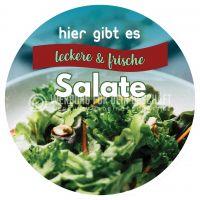Rund | Salate Plakat | Werbeplakat für deinen Imbiss | Rundformat