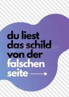 Falsche Seite Hinweisschild | Plakat