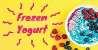 2:1   Frozen Yogurt Plakat   Werbe-Poster für Frozen Yogurt   2 zu 1 Format