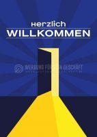Herzlich Willkommen Poster | Plakat für Werbeaufsteller